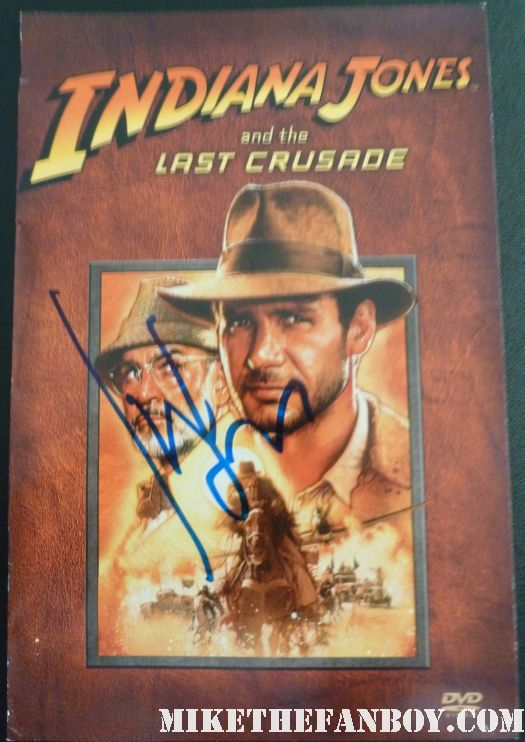 harrison ford signed autograph indiana jones and the last crusade movie premiere flyer