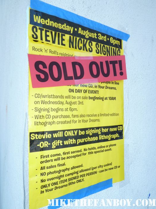 scotty at the stevie nicks cd signing at amoeba music hollywood rare autograph signing in your dreams rare promo