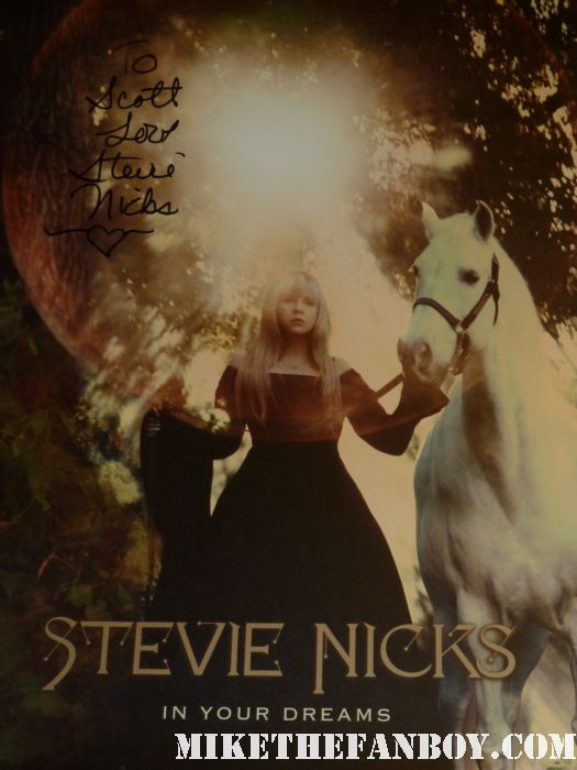 stevie nicks signed autograph in your dreams litograph amoeba music cd instore signing rare scotty at the stevie nicks cd signing at amoeba music hollywood rare autograph signing in your dreams rare promo