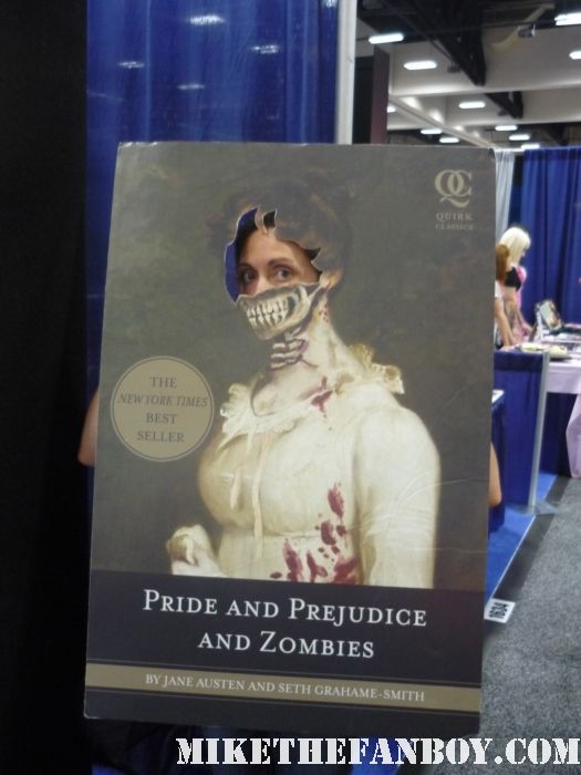 the novel strumpet from mike the fanboy at the pride prejudice and zombies photo board at  san diego comic con 2011 sdcc 2011 rare book lovers promo hot rare promo free books hot sexy shirtless waitor bicep muscle abs pecs