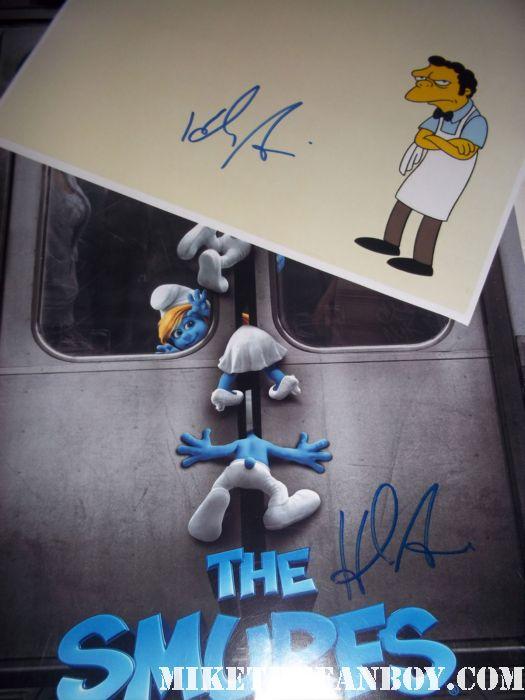 hank azaria signed autograph smurfs rare promo one sheet mini movie poster rare promo hot  gargamel