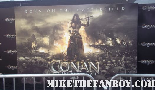 the conan the barbarian red carpet world movie premiere with jason momoa lisa bonet rose mcgowan rachel nichols ron perlman