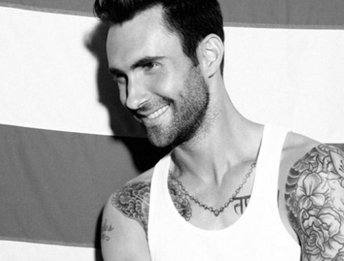 adam levine looking all sexy and hot in the out magazine sexy shirtless sweaty photoshoot photo shoot tatoo rare promo maroon 5 sexy damn fine rare