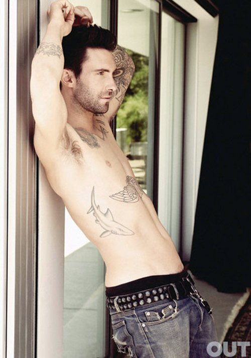 adam levine looking all sexy and hot in the out magazine sexy shirtless sweaty photoshoot photo shoot tatoo rare promo maroon 5 sexy damn fine rare sexy armpit shirtless adam levine naked