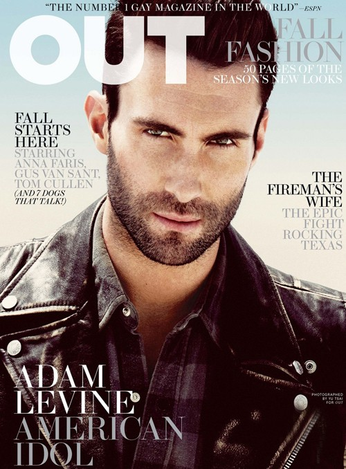 adam levine looking all sexy and hot in the out magazine sexy shirtless sweaty photoshoot photo shoot tatoo rare promo maroon 5 sexy damn fine rare sexy armpit shirtless adam levine