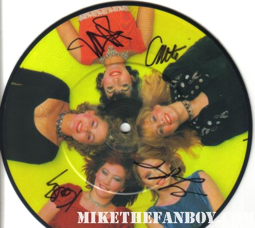 "automatic 7"" signed autograph go-go's limited edition picture disc jane wiedlin gina schock charlotte caffey kathy valentine"
