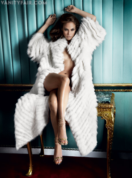jennifer lopez jenny from the block hot and sexy photo shot photoshoot from the september 2011 issue of vanity fair magazine naked rare skin fur hot sexy