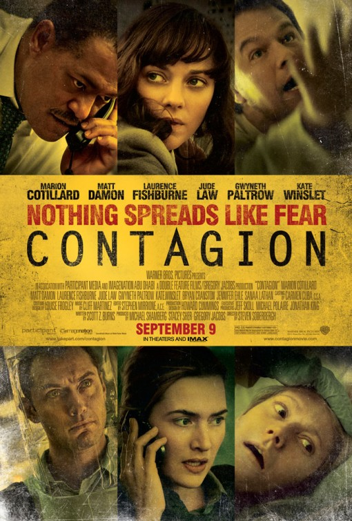 contagion rare one sheet movie poster promo matt damon gwenyth paltrow lawrence fishburne jude law hot promo rare poster