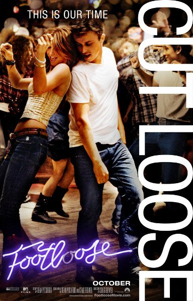 footloose rare version three rare promo one sheet movie poster remake 2011 disney hot sexy dancing Kenny Wormald hot sexy shirtless promo