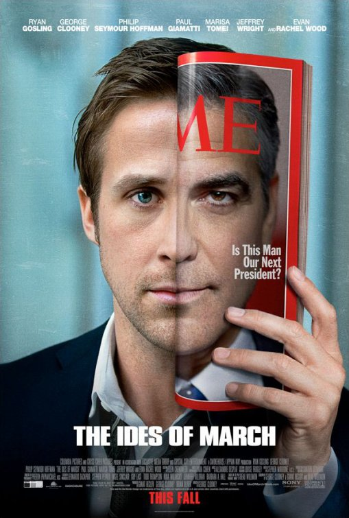 the ides of march rare teaser movie poster one sheet ryan gosling george clooney rare promo poster jeffrey wright rare
