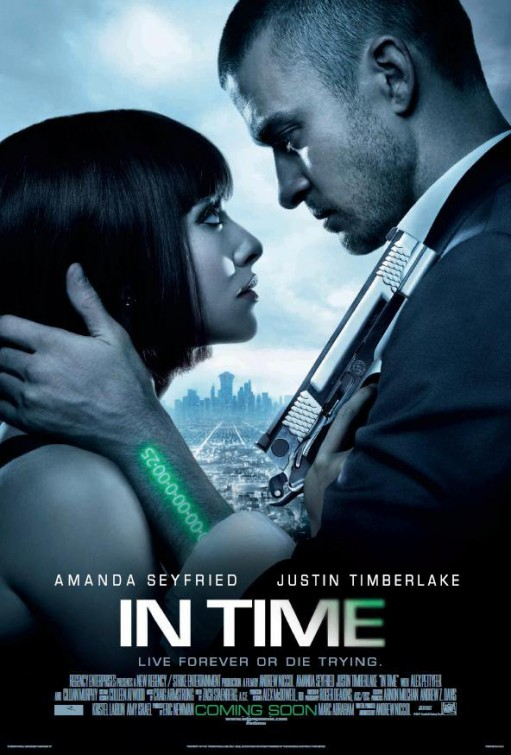 in time rare promo one sheet movie poster justin timberlake amanda seyfried hot sexy rare promo the island red riding hood hot shirtless justin timberlake shirtless