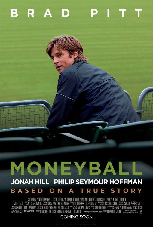 moneyball rare promo one sheet movie poster brad pitt green jonah hill philip seymour hoffman rare promo movie promo poster hot sexy