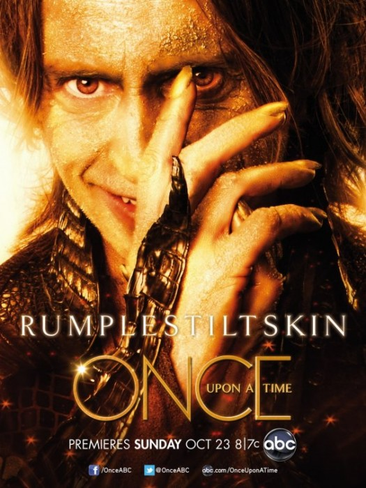 once upon a time rare abc promo poster  Rumplestiltskin rare lost tron legacy robert carlyle promo poster abc pilot snow white fairytale d23 convention