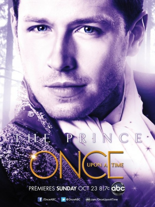 once upon a time rare abc promo poster prince charming individual promo poster Josh Dallas hot sexy shirtless sexy scruff rare lost tron legacy promo poster abc pilot snow white fairytale d23 convention