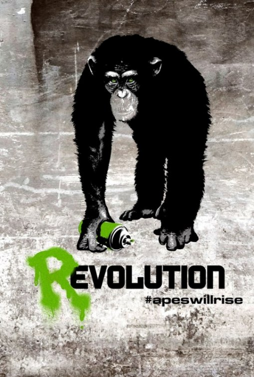 rise_of_the_planet_of_the_apes james franco rare promo one sheet movie poster apes rare evolution poster internet  revolution