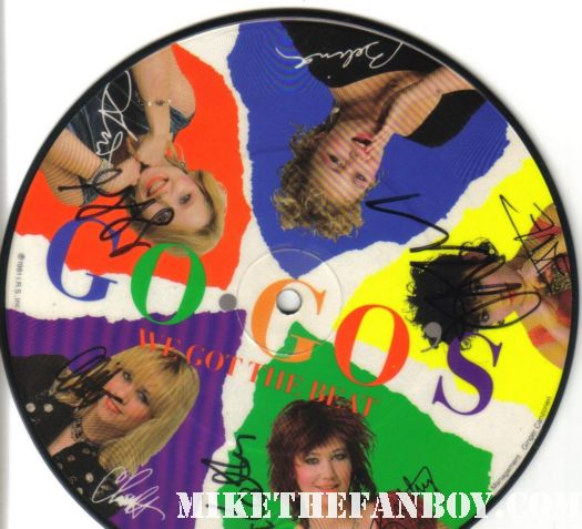 we got the beat signed autograph go-go's limited edition picture disc jane wiedlin gina schock charlotte caffey kathy valentine Gina Schock signing autographs at the go-go's walk of fame star ceremony charlotte caffey signing autographs at the go-go's walk of fame star ceremony kathy valentine from the go-go's signing autographs at the walk of fame star ceremony jane wiedlin signing autographs at The Go-go's walk of fame star ceremony on hollywood blvd we got the beat belinda carlisle charlotte caffey jane wiedlin gina schock kathy valentinealk of fame star ceremony on hollywood blvd we got the beat belinda carlisle charlotte caffey jane wiedlin gina schock kathy valentine