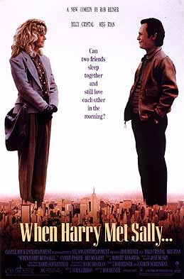 when harry met sally rare promo movie poster one sheet billy crystal meg ryan pop art promo