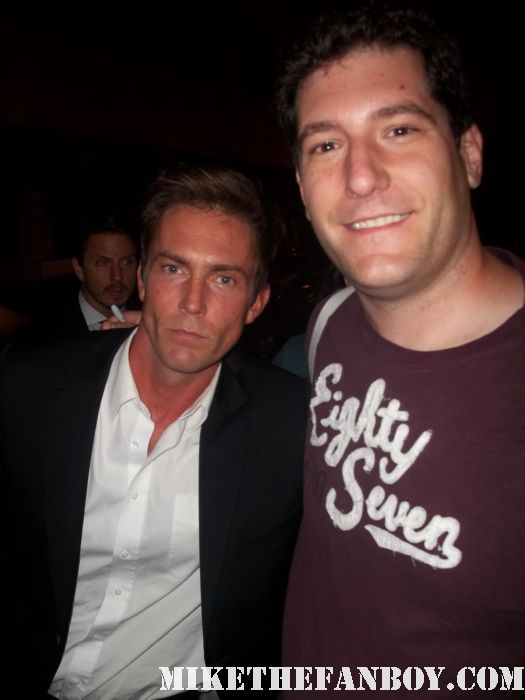 Mike the fanboy with dexter star desmond harringon quinn at the showtime emmy awards party hot sexy rare promo