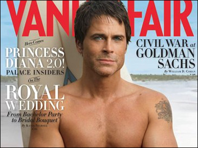 shirtless rob lowe on the cover of vanity fair magazine 1980s promo hot sexy brothers and sisters star about last night...