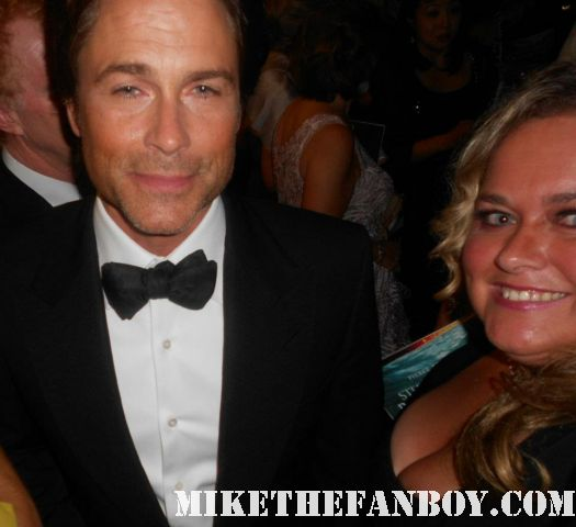 pretty in pink with 1980s icon mr rob lowe at the 2011 emmy awards hot rare about last night... the outsiders valley girl
