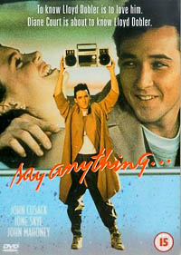 say anything... rare promo poster one sheet artwork soundtrack promo poster flat jon cusak ione sky hot