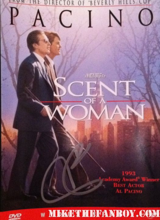 al pacino signed autograph scent of a woman dvd cover al pacino signed autograph scarface photo photograph rare devil's advocate hot the godfather rare promo sexy over the top