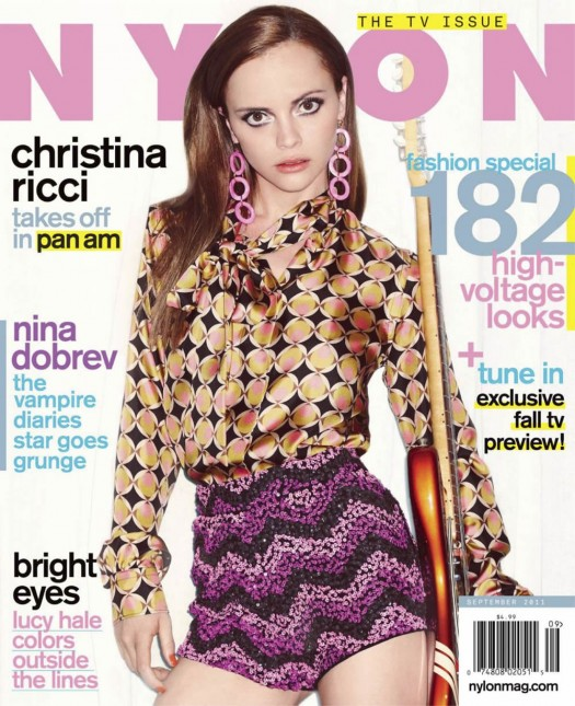 Christina Ricci looks hot and sexy on the cover of the september 2011 issue of nylon magazine rare promo sexy magazine cover christina ricci hot and sexy photoshoot in the september 2011 issue of nylon magazine pan am sleepy hollow pumpkin adams family rare sexy hot the opposite of sex