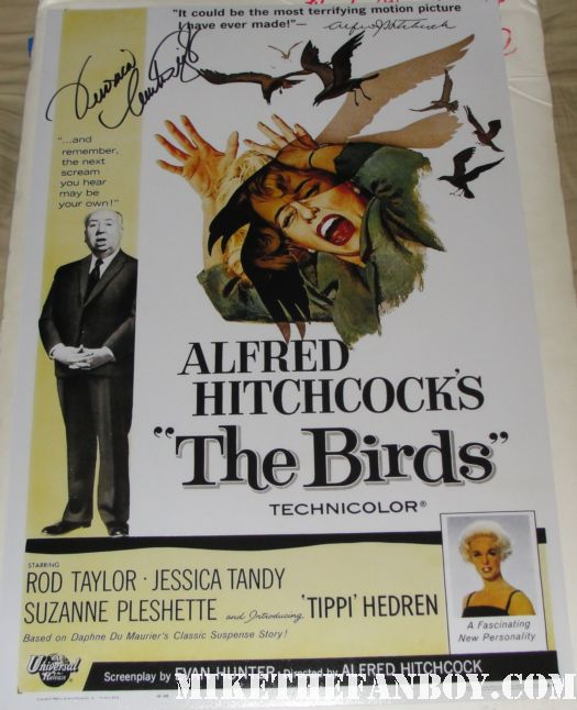 veronica cartwright signed autograph the birds rare promo mini poster alfred hitchcock