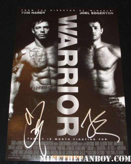 the warrior cast signed promo mini poster tom hardy joel edgerton rare hot sexy shirtless poster muscle hot