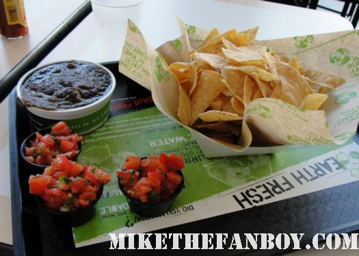 the fire roasted salsa receipie at baja fresh in all it's wonderful glory with chips in hollywood