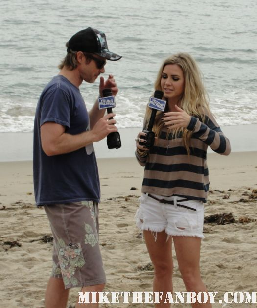 true blood star sam trammell getting interviewed on the beach at the 6th annual surfrider benefit in malibu sam merlotte shirtless