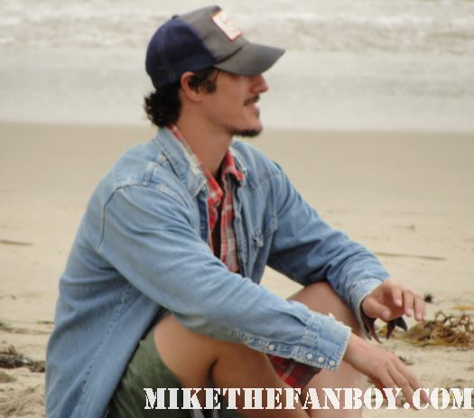 six feet under star eric balfour getting interviewed on the beach at the 6th annual surfrider benefit in malibu
