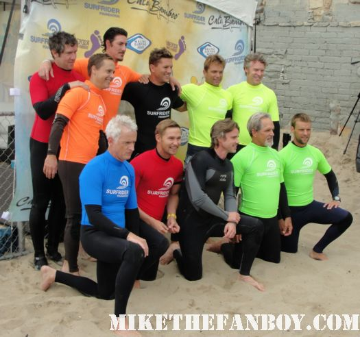 group photo of sam trammell eric balfour john slattery chad lowe ross thomas at the 6th annual surfrider benefit in malibu