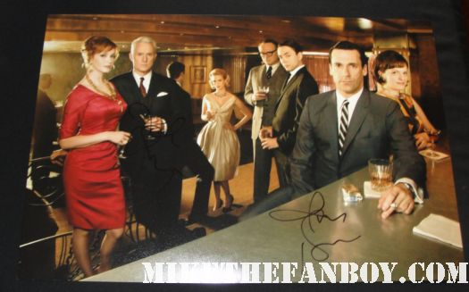 Mad Men cast signed poster john slattery john hamm elizabeth moss christina hendricks jared harris