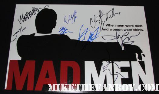 Mad Men cast signed poster john slattery john hamm elizabeth moss christina hendricks jared harris