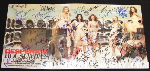 desperate housewives rare promo poster signed autograph teri hatcher marica cross felicity huffman eva longoria doug savant lesley ann warren nicolette sheridan
