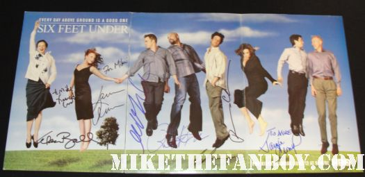 cast signed autographed six feet under rare promo poster brian krause michael c hall francis conroy erica balfour patricia clarkson lauren ambrose