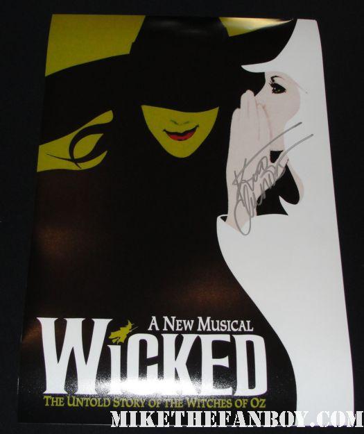 kristin chenoweth signed autograph wicked rare promo mini poster hot glinda the good witch rare promo