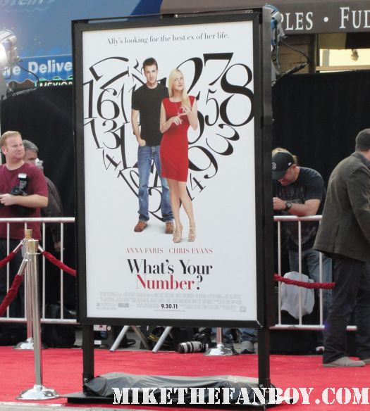 what's your number world movie premiere anna farris chris evan hot sexy dave annable zachary quinto blythe danner megan park signed autograph