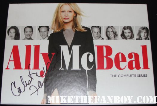 calista Flockhart Signed Autograph Ally McBeal complete series boxset DVD rare signed autograph hot sexy brothers and sisters