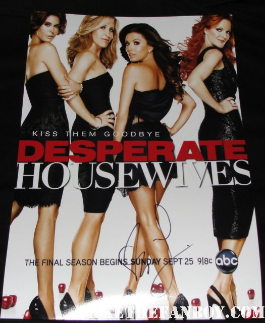 eva longoria signed autograph desperate housewives final season 8 promo poster kiss them goodbye rare promo hot sexy