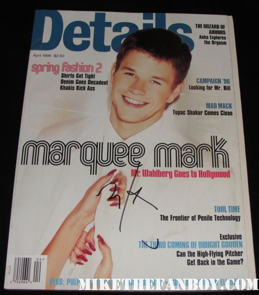 Marky Mark wahlberg arrives at a talk show taping to promote boardwalk empire and signs autographs for fans hot and sexy mark wahlberg mark wahlberg signed autograph details magazine 1992 rare hot and sexy marky mark cover rare promo