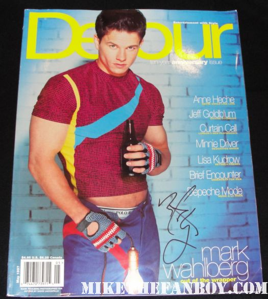 mark wahlberg signed autograph detour magazine cover david lachapelle rare promo hot sexy lightbulb promo rare canada