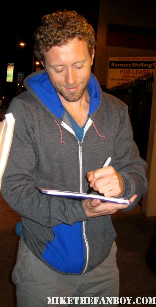 Bones Star T.J. Thyne signs autographs for fans outside the arclight theatre in hollywood sexy hot rare