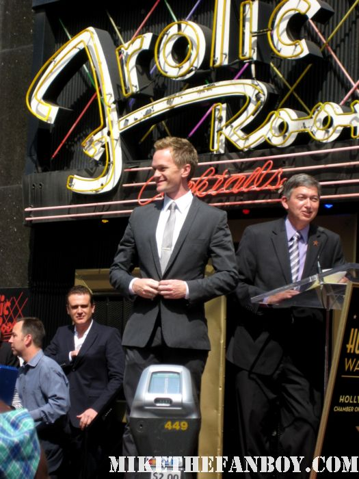 Neil Patrick Harris Star ceremony hollywood walk of fame with david burtka jason segel joss whedon buffy the vampire slayer how I met your mother barney