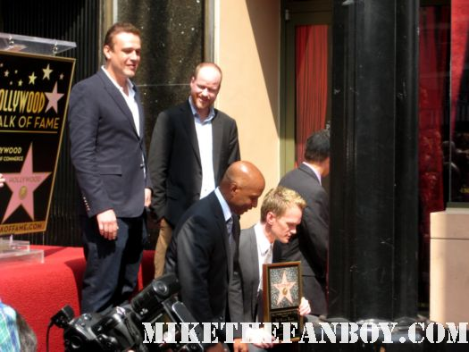 Neil Patrick Harris Star ceremony hollywood walk of fame with david burtka jason segel joss whedon buffy the vampire slayer how I met your mother barney doogie howser MD