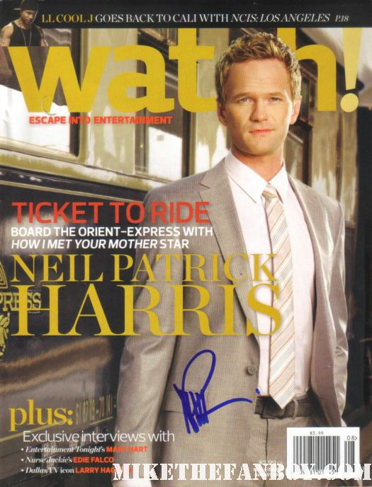 neil patrick harris signed how I met your mother watch magazine 2009 rare emmy magazine cbs rain signing autographs at his walk of fame star ceremony  Neil patrick harris walk of fame star ceremony signed autograph joss whedon jason segel rare signed autograph how i met your mother barney doogie howser md