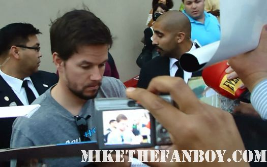 Marky Mark wahlberg arrives at a talk show taping to promote boardwalk empire and signs autographs for fans hot and sexy mark wahlberg