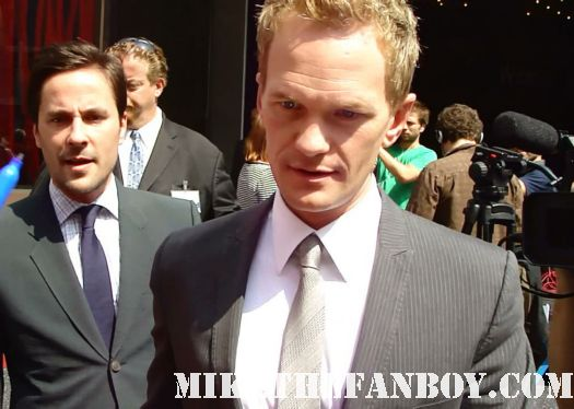 neil patrick harris signing autographs at his walk of fame star ceremony  Neil patrick harris walk of fame star ceremony signed autograph joss whedon jason segel rare signed autograph how i met your mother barney doogie howser md