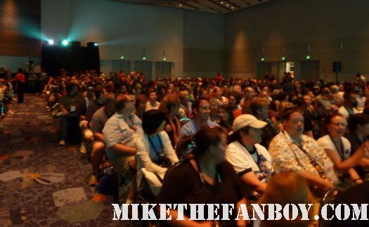 The crowd waiting to see mr. dick van dyke at the d23 convention in anaheim rare fat disney fans